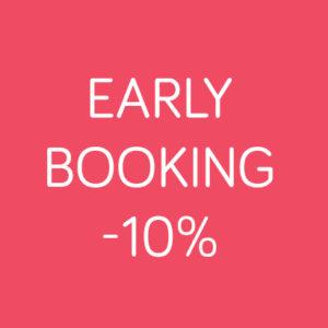 EARLY BOOKING -10% TOT EN MET 16/02/20